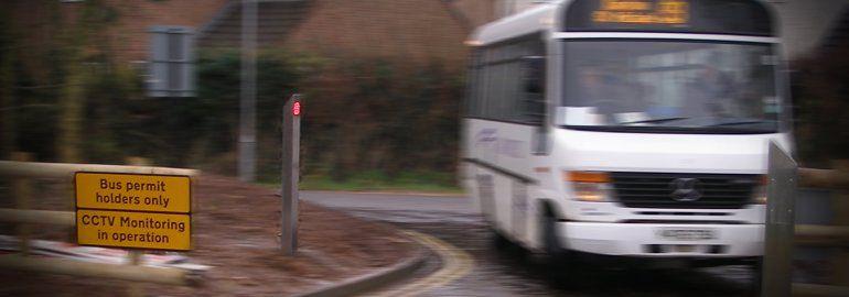 traffic calming measures bus gate bollards