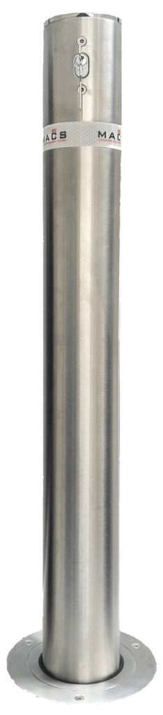 manual security bollard