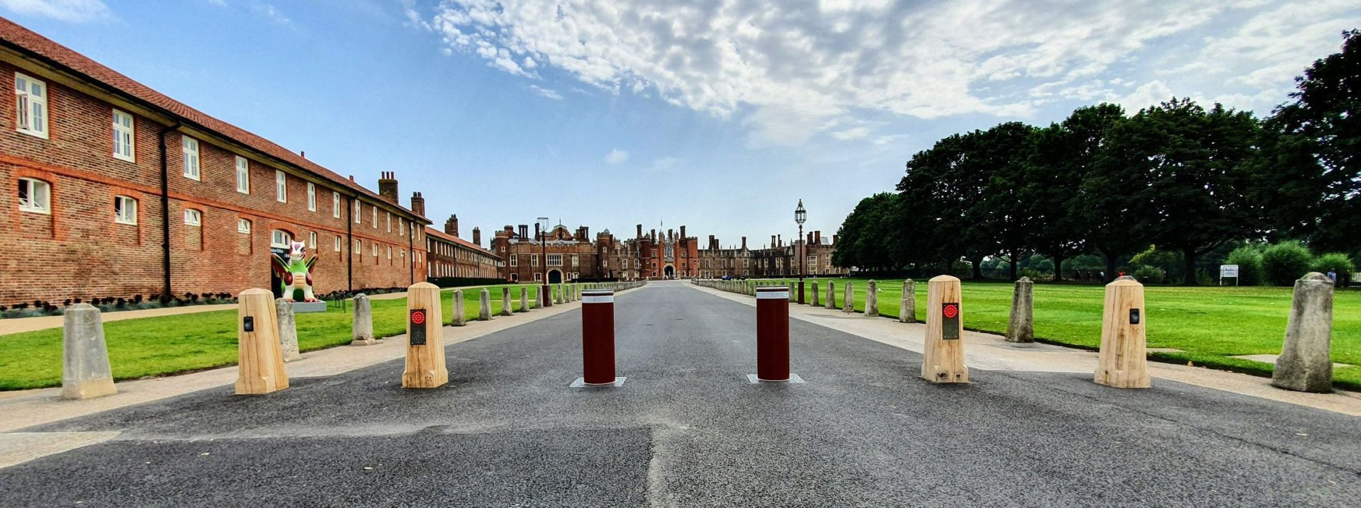 Automatic Bollards at Hampton Court Palace